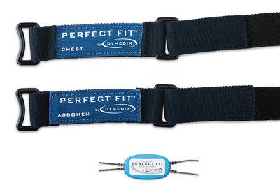 "Perfect Fit Pediatric Effort Belt Kit: 2 sensors, 2 ea-15"",25"",35"" Straps, Sum Interface Cable"