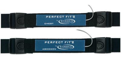 "Perfect Fit II Adult Effort Belt Kit: 2 Sensors, 2-ea 45"" & 60"" Straps"