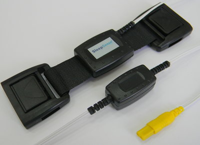 Piezo Respiratory Effort Kit, Double Buckle, Adult, Abdomen / Key Connector